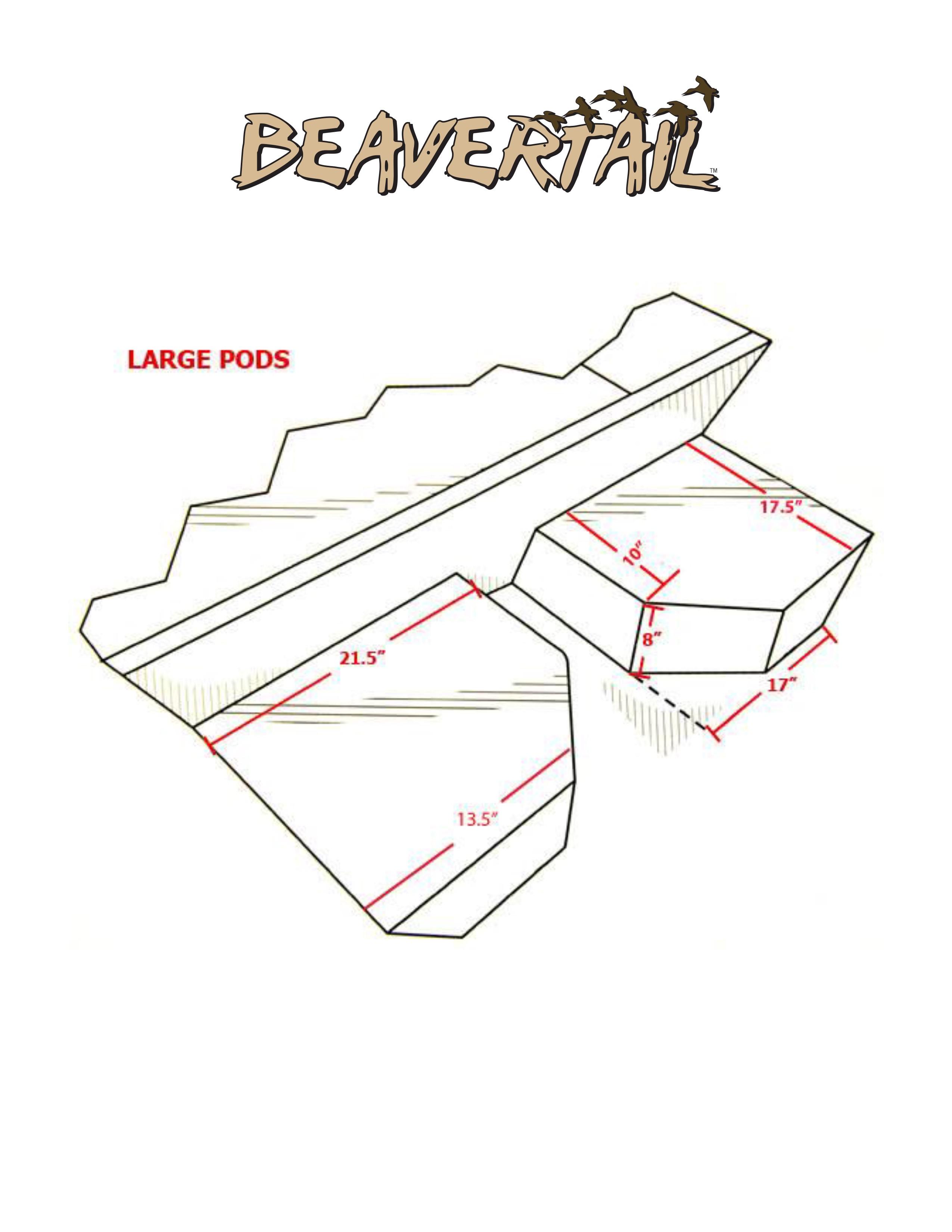 Flotation pods large explore beavertail for Boat motor size calculator